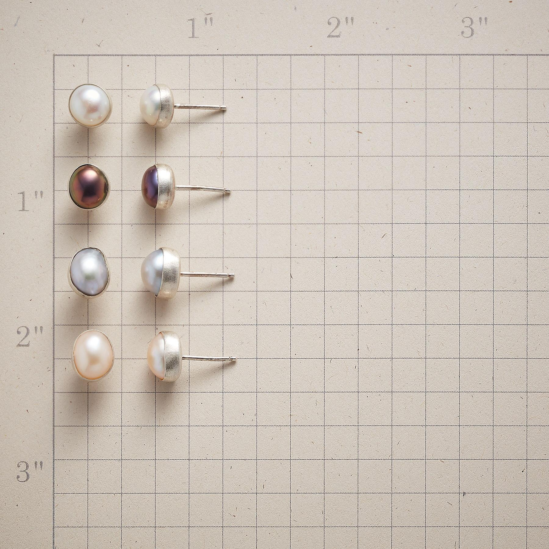 SHADES OF PEARL EARRINGS, SET OF 4: View 2