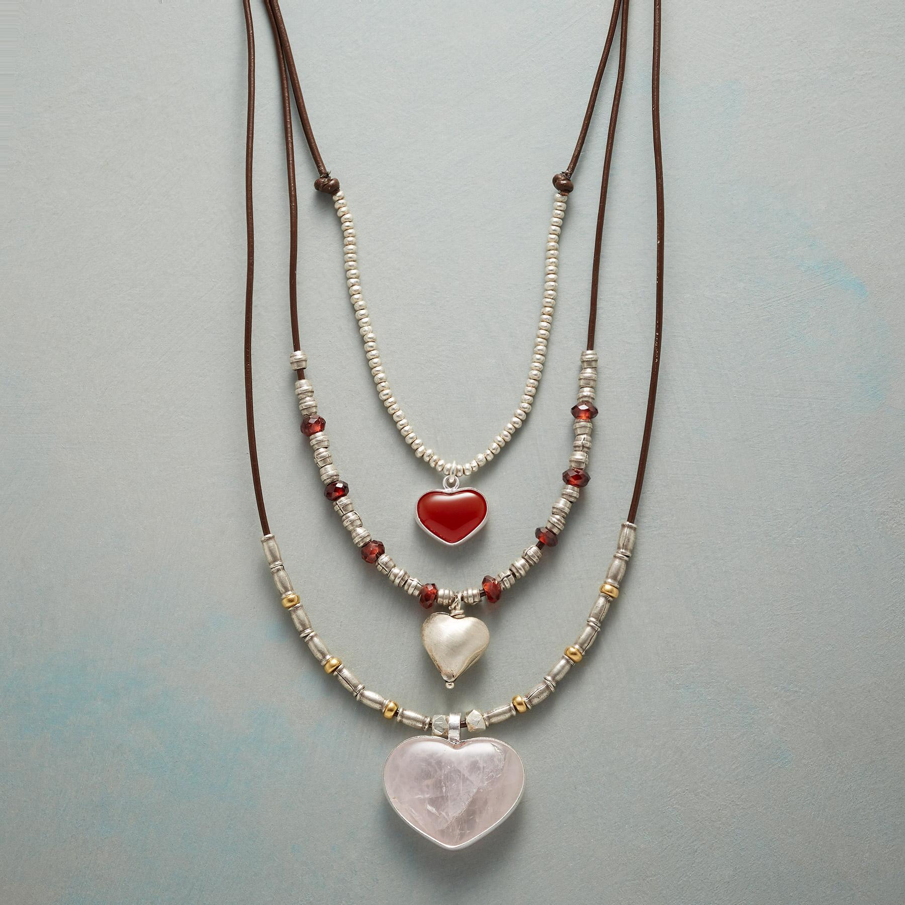 THREE TIMES THE LOVE NECKLACE: View 1