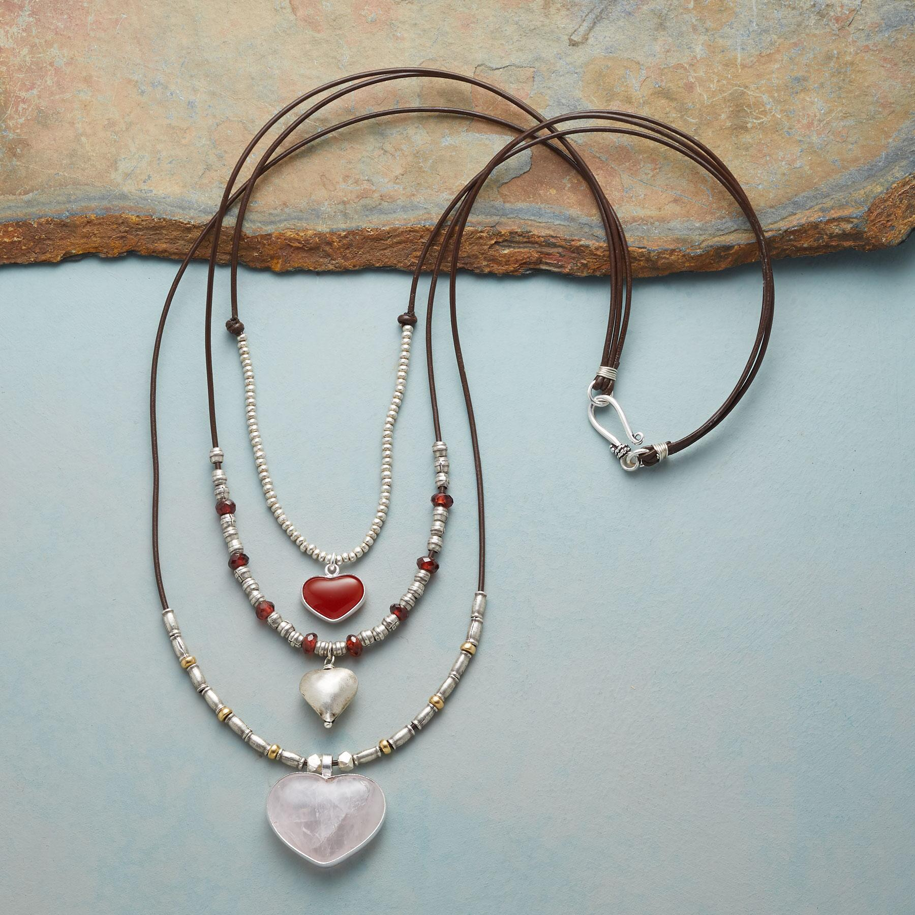 THREE TIMES THE LOVE NECKLACE: View 2