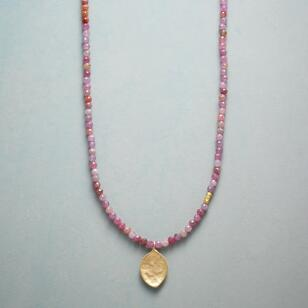 RUBY LEAF NECKLACE