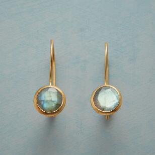 LABRADORITE SATELLITE EARRINGS
