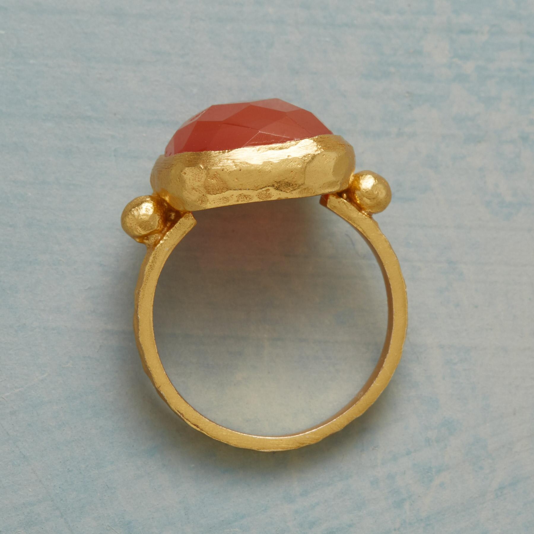 CHECKED CARNELIAN RING: View 2