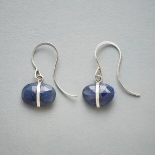 ENCIRCLED SAPPHIRE EARRINGS
