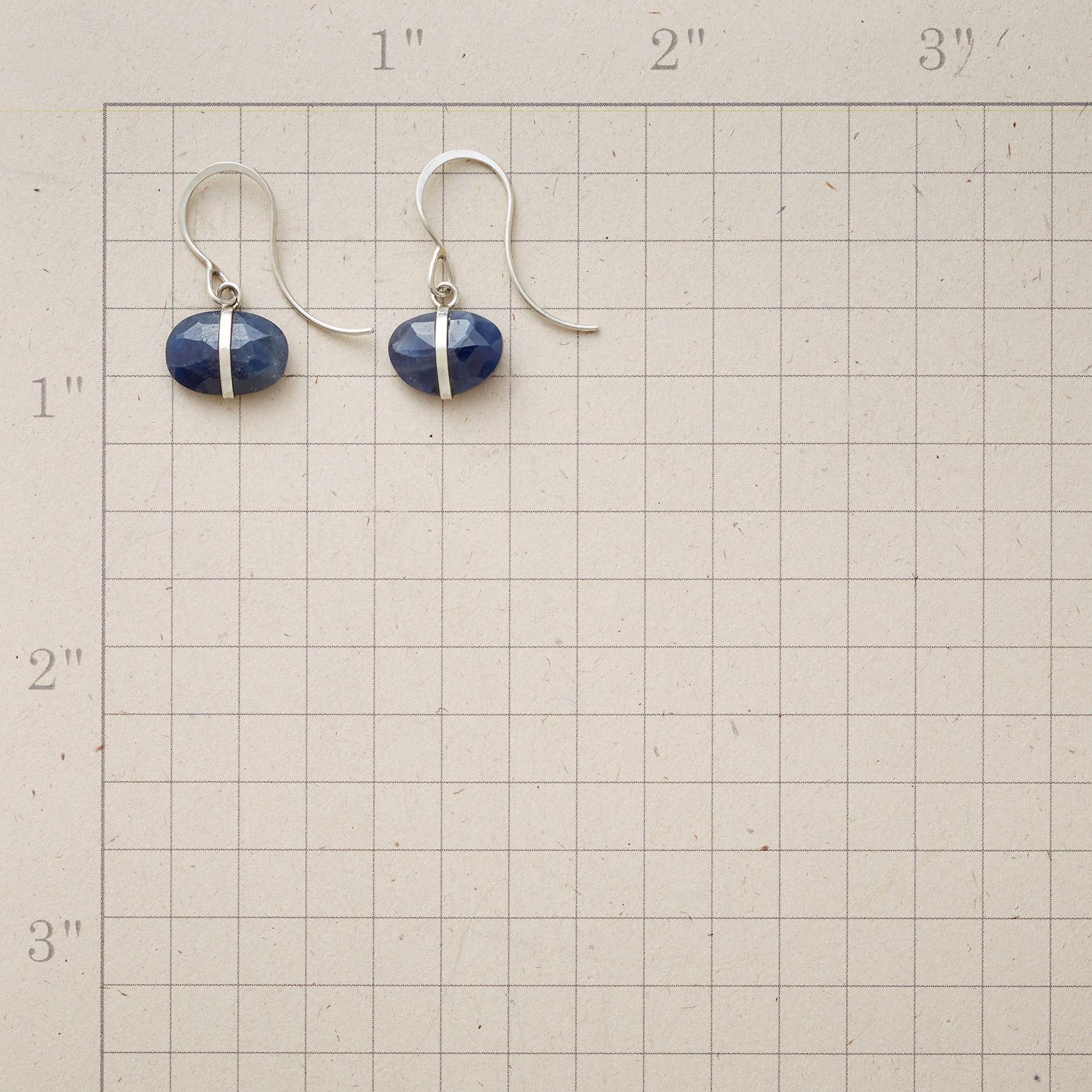 ENCIRCLED SAPPHIRE EARRINGS: View 2