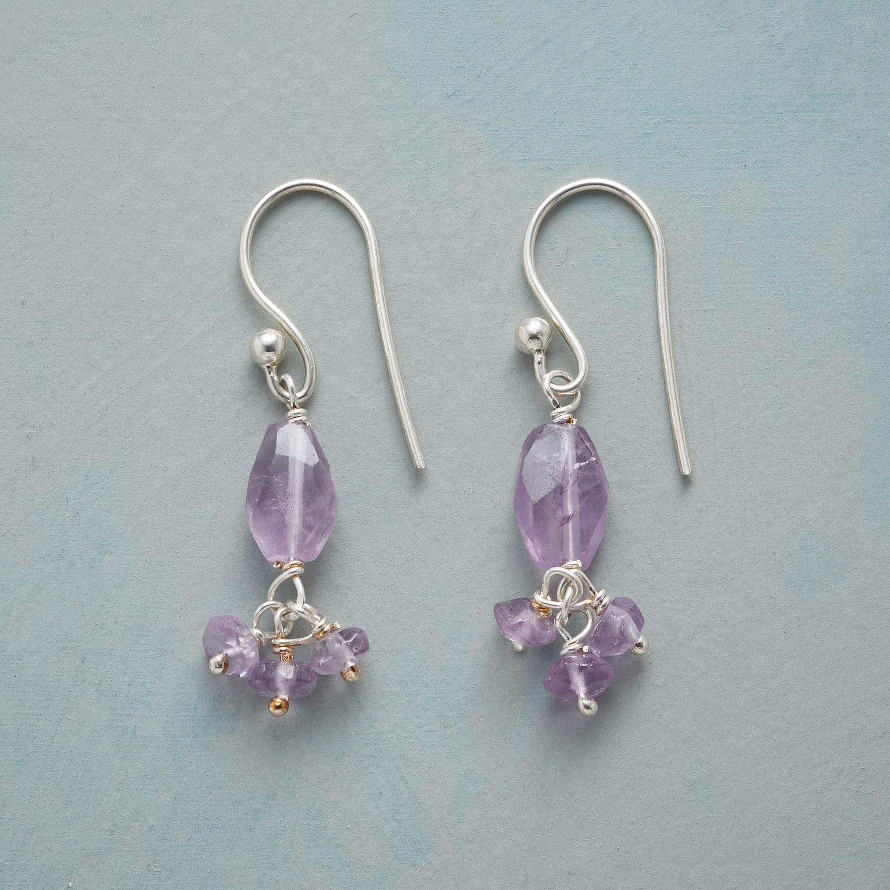 AMETHYST BALLERINA EARRINGS: View 1