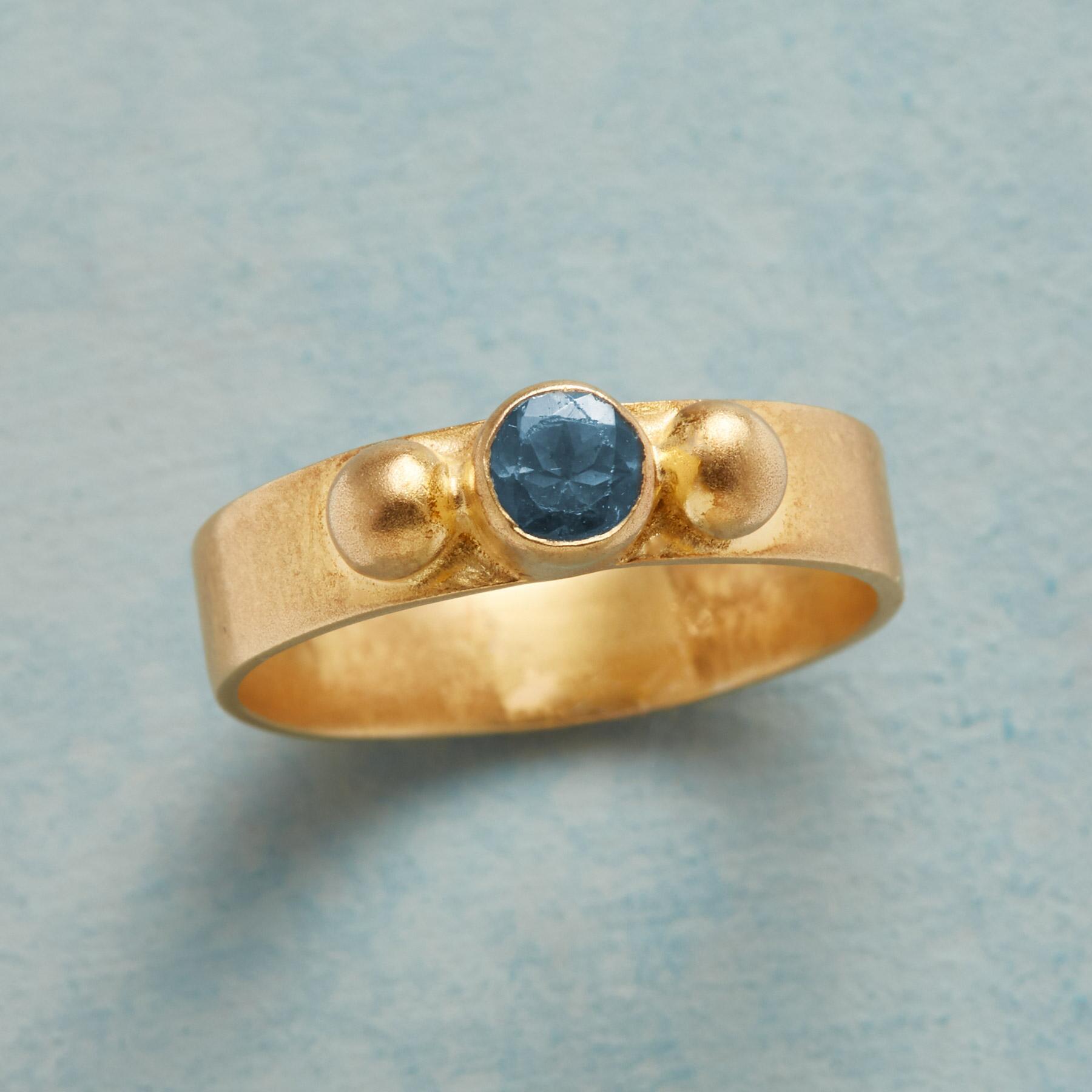 SUNLIT BLUE TOPAZ RING: View 1