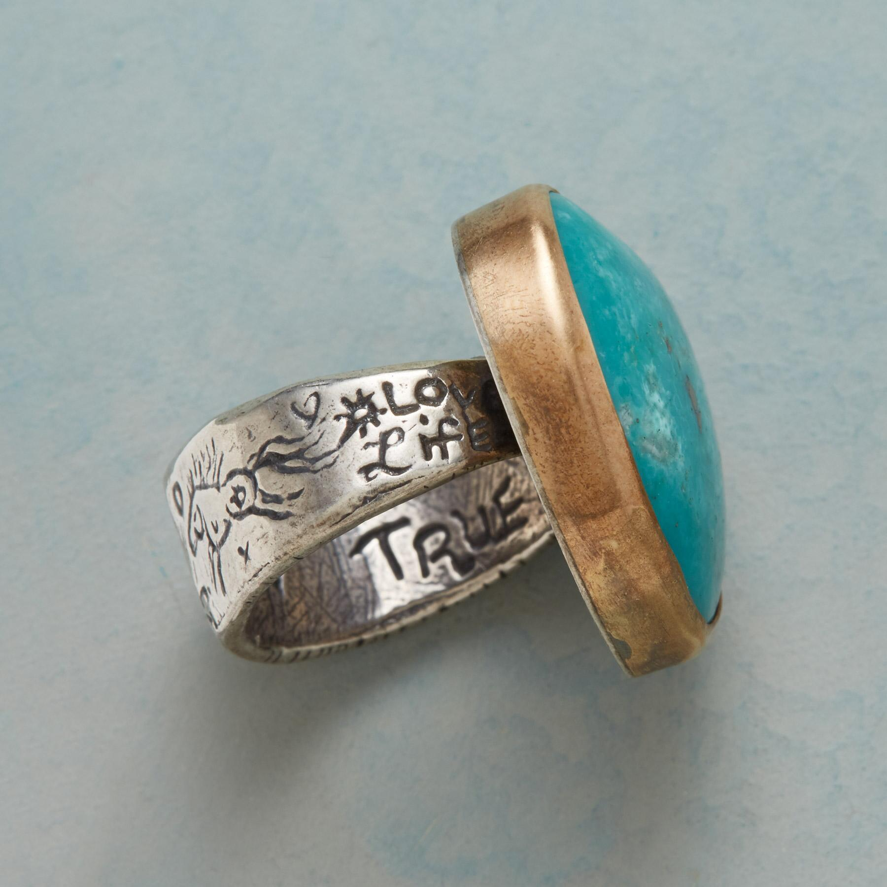 TURQUOISE HEARTBEAT RING: View 2