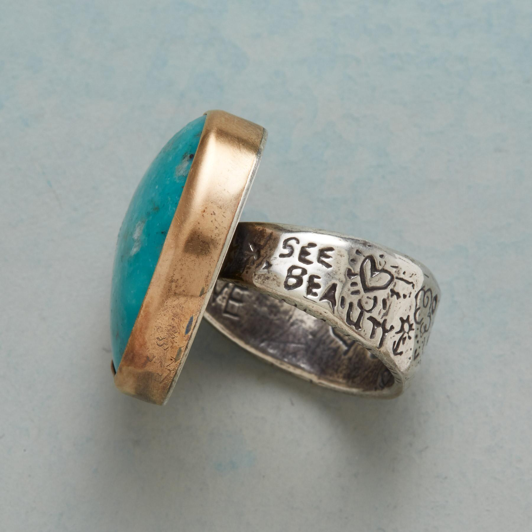 TURQUOISE HEARTBEAT RING: View 3