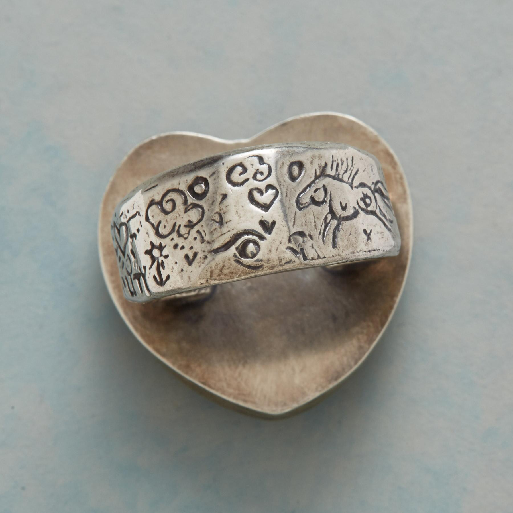 TURQUOISE HEARTBEAT RING: View 4