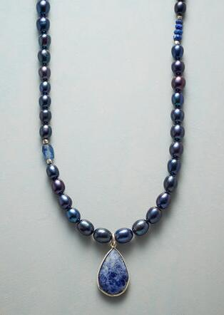 BLUE BYGONES NECKLACE