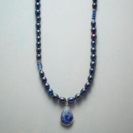 BLUE BYGONES NECKLACE