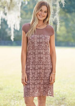 ANGELICA EMBROIDERY DRESS - PETITES