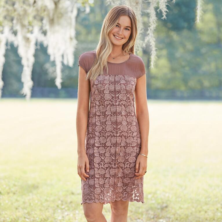 ANGELICA EMBROIDERY DRESS PETITE