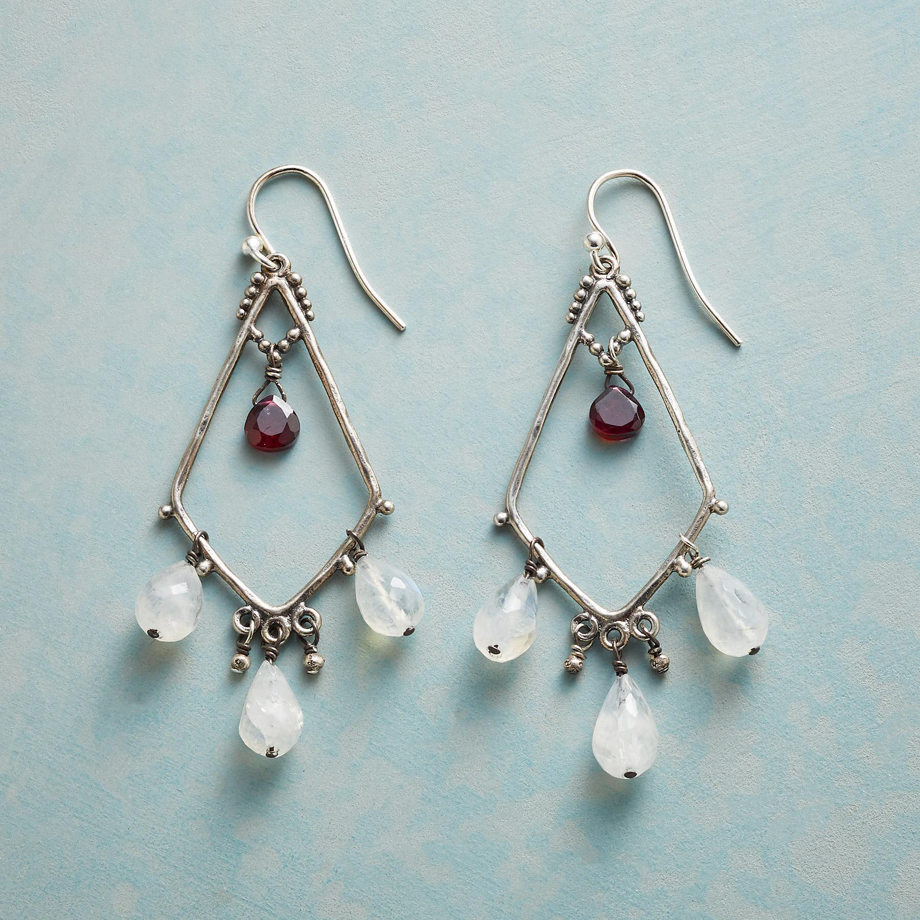 GARNET SERENADE EARRINGS: View 1