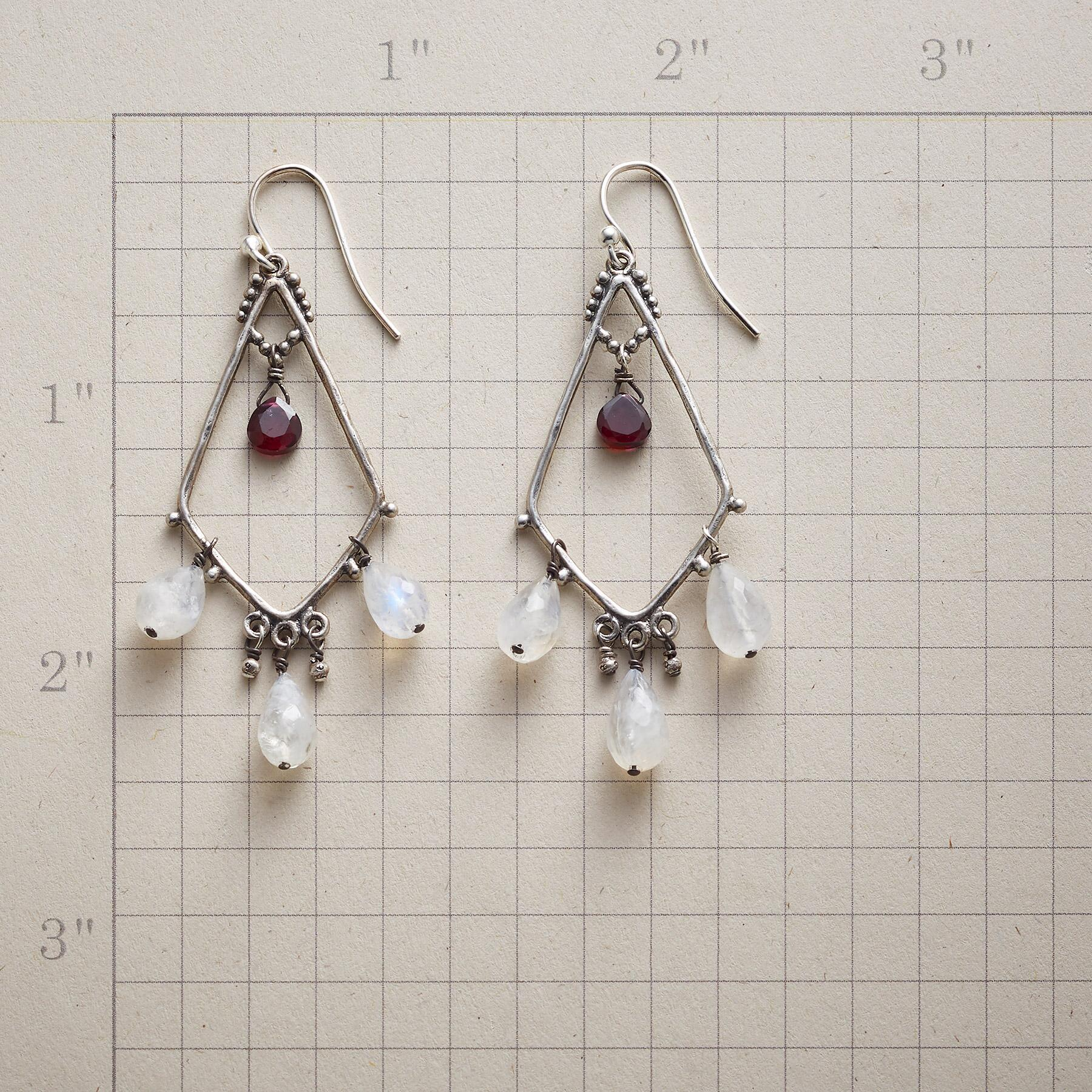 GARNET SERENADE EARRINGS: View 2
