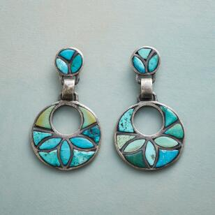 TURQUOISE IN BLOOM EARRINGS