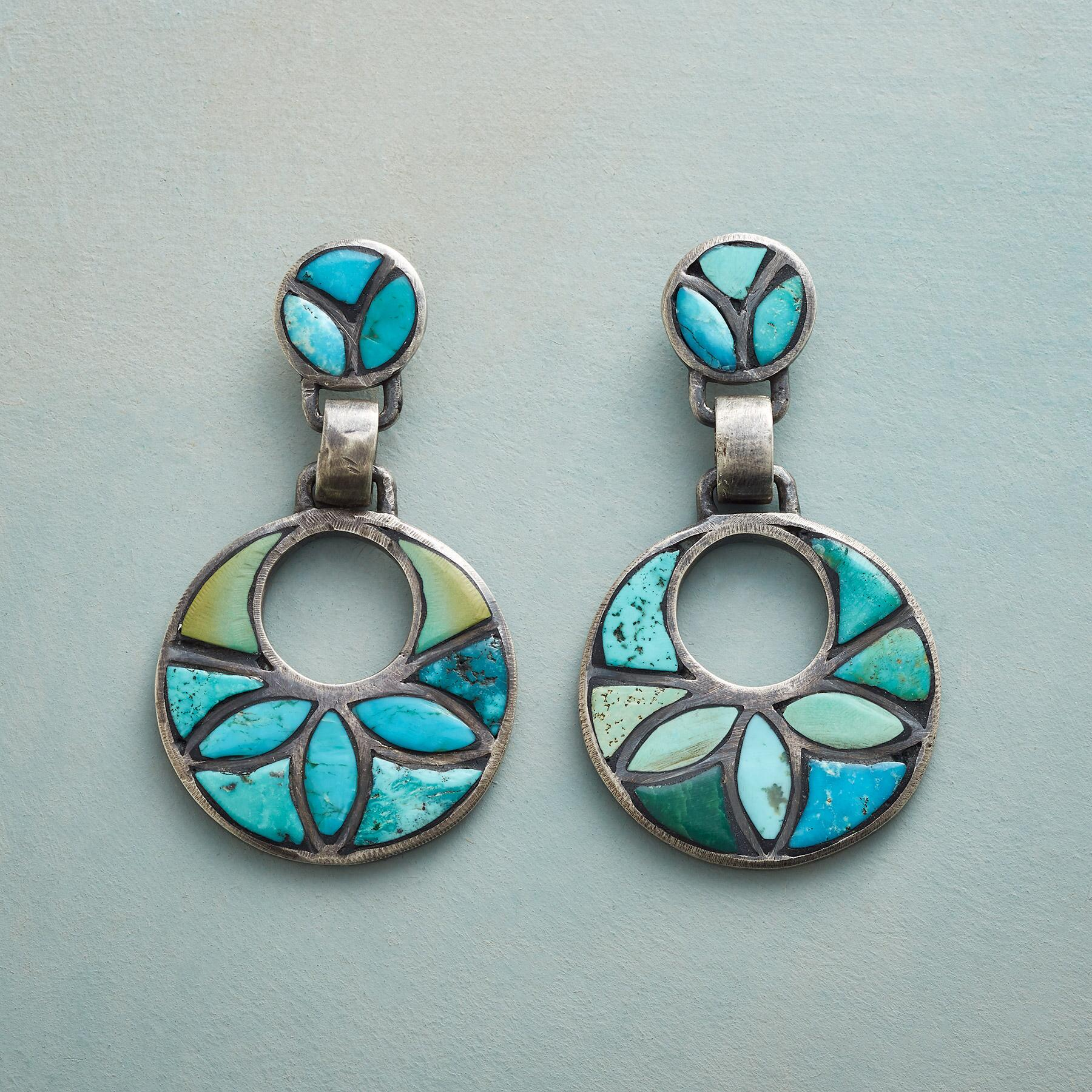 TURQUOISE IN BLOOM EARRINGS: View 1