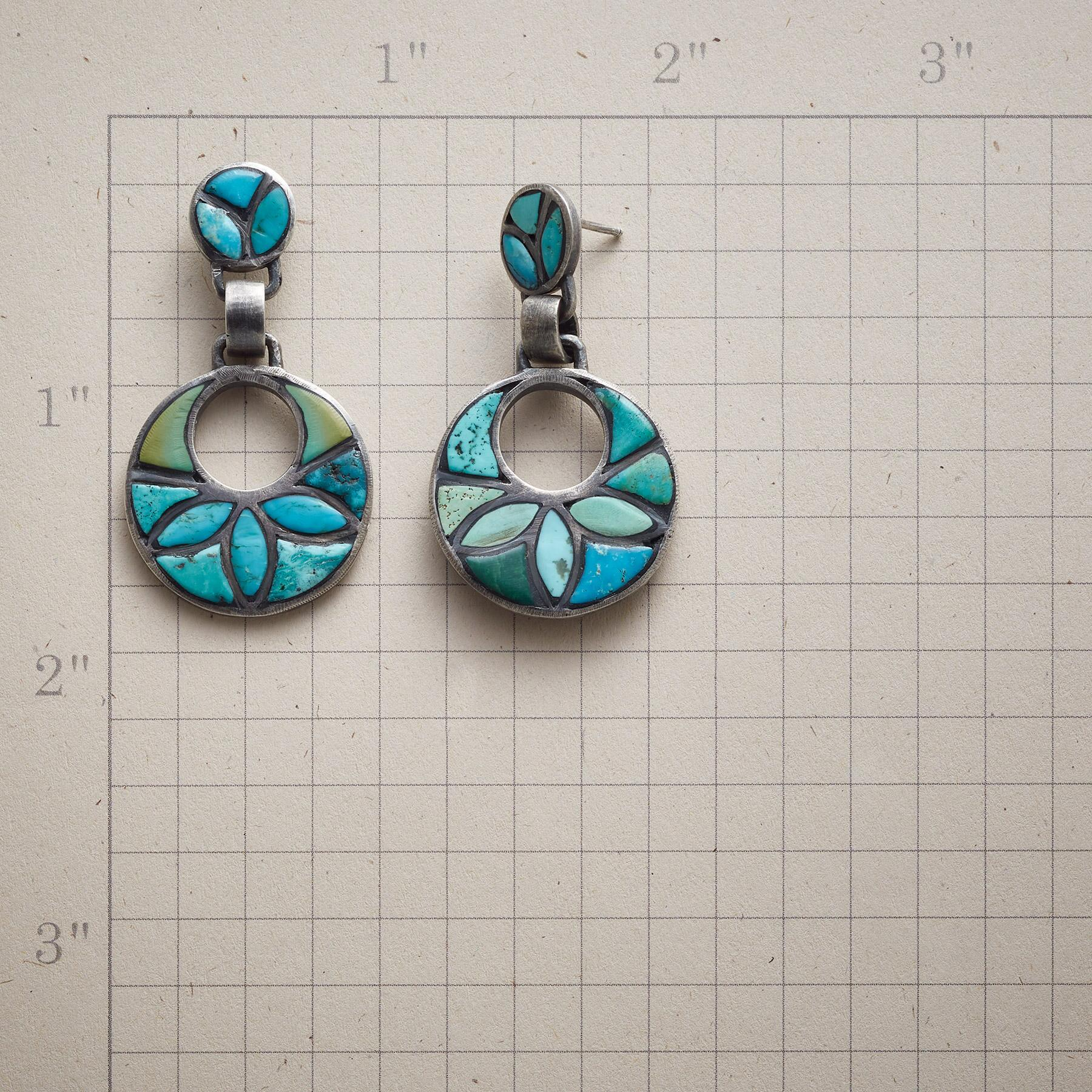 TURQUOISE IN BLOOM EARRINGS: View 2