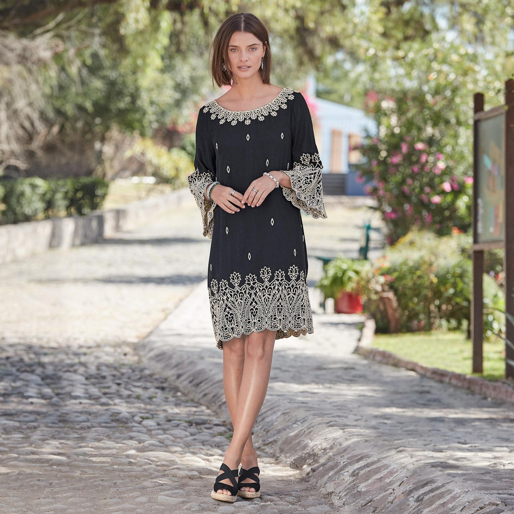 PALACE EYELET DRESS: View 1