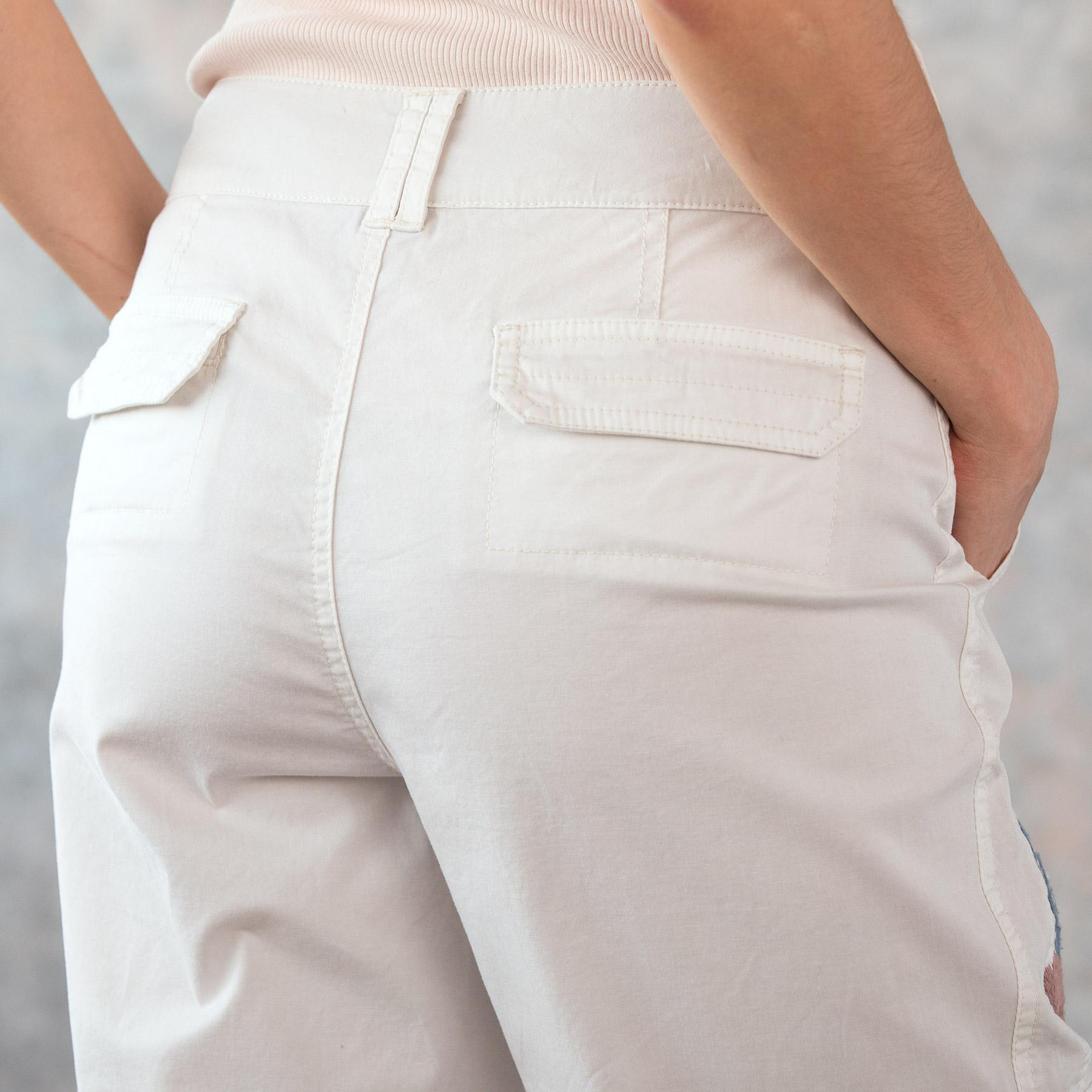 BLOOM EMBROIDERED CARGO PANTS - PETITES: View 6