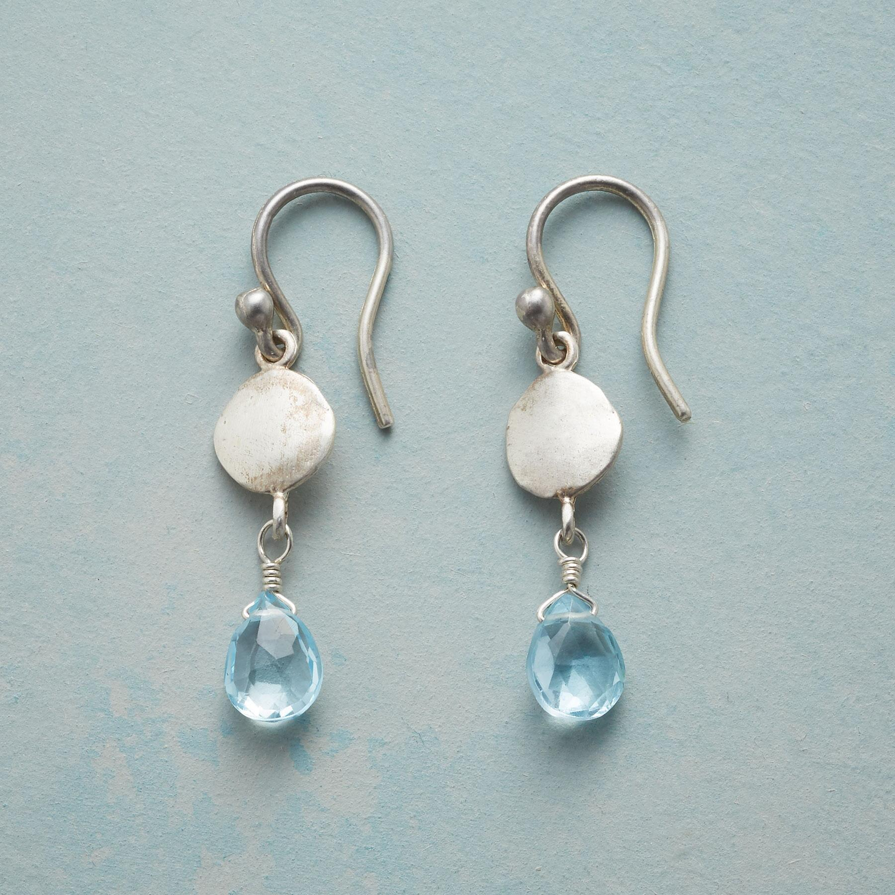 SILVER AND ICE EARRINGS: View 1