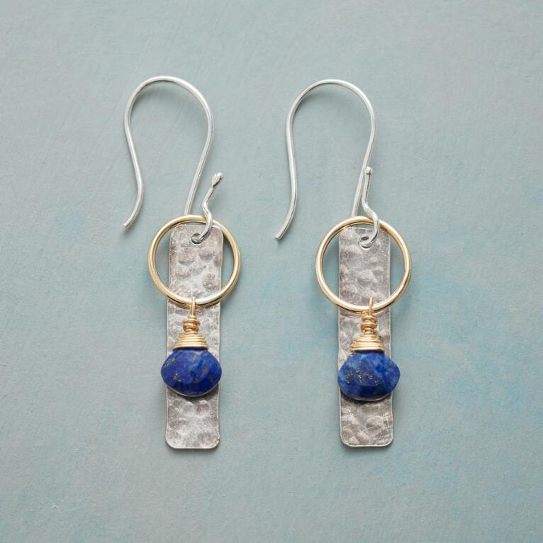 BLUE LANTERN EARRINGS