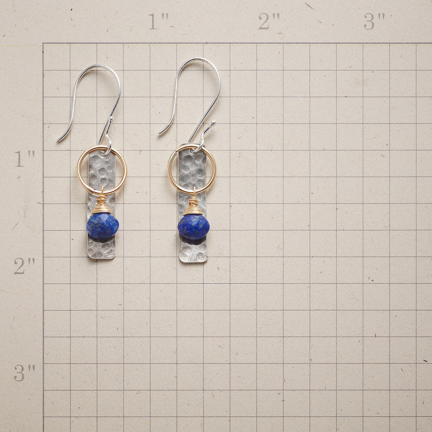 BLUE LANTERN EARRINGS: View 2