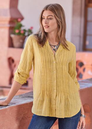 WARM BREEZE STRIPE TUNIC - PETITES