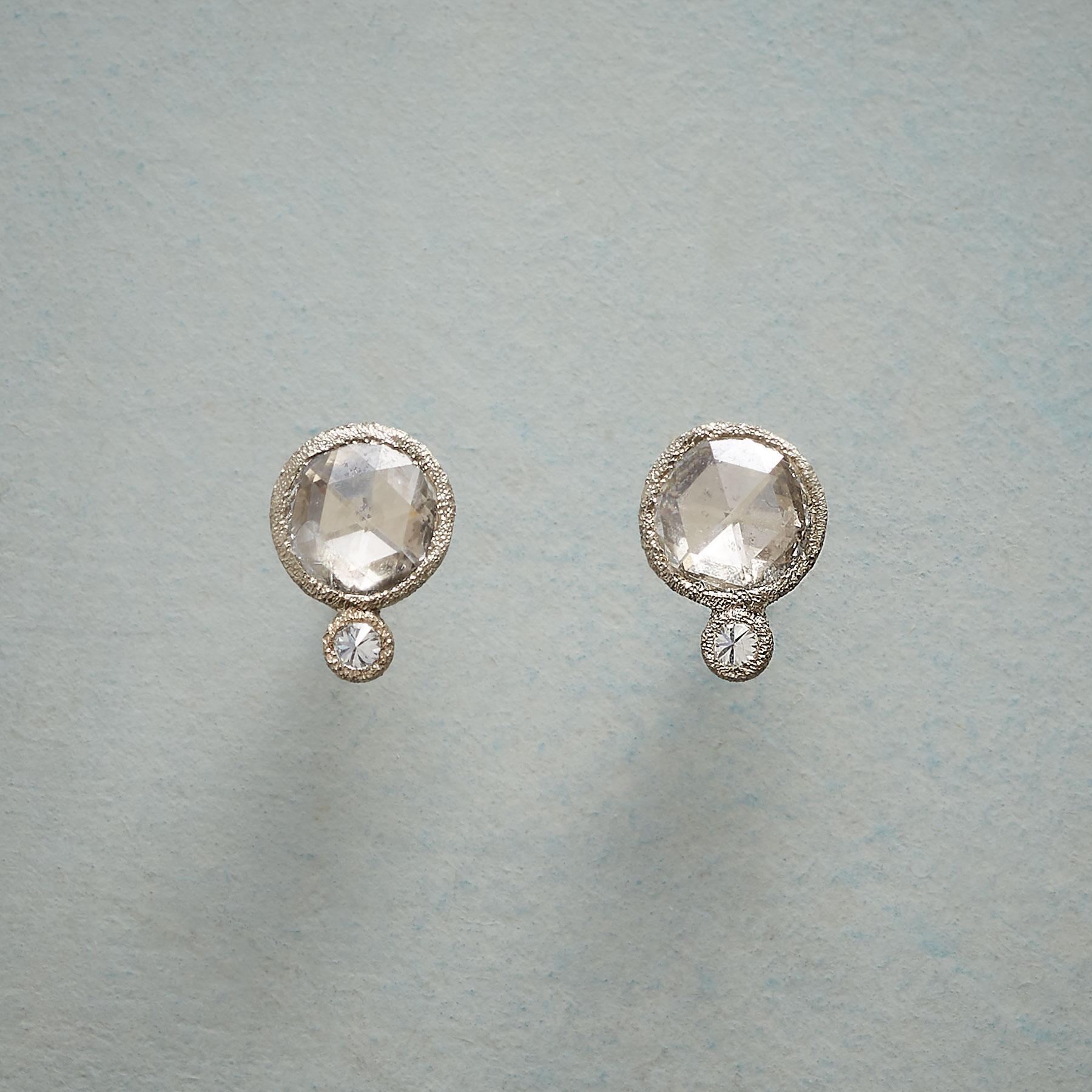 FROSTY DIAMOND EARRINGS: View 1