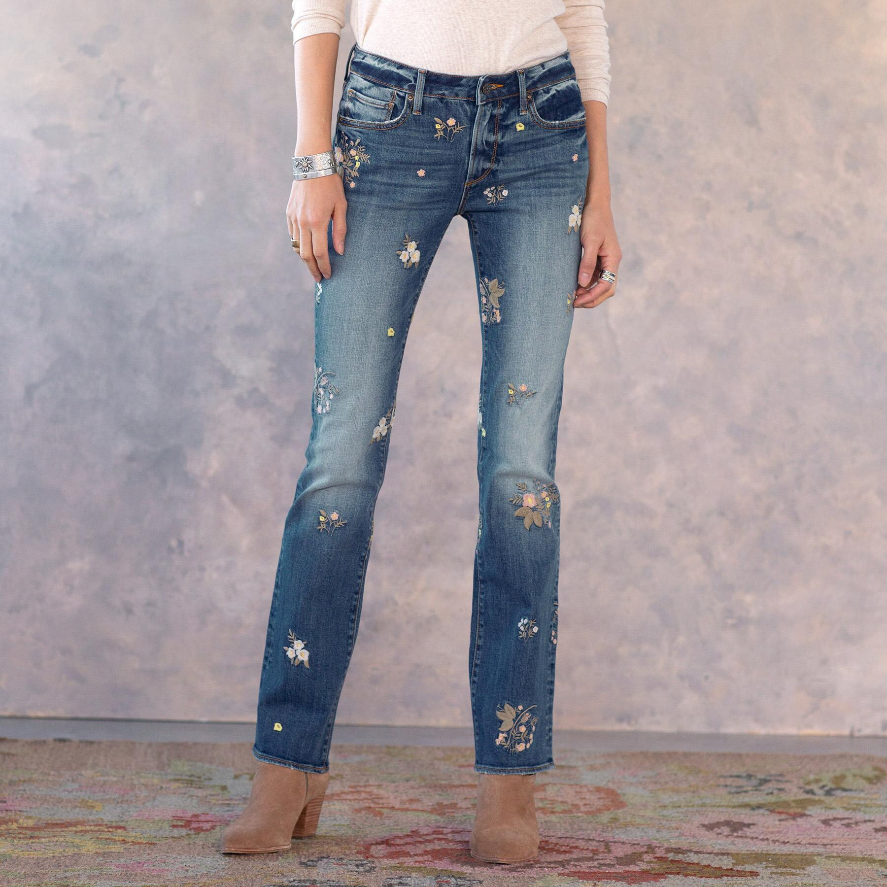 KELLY FLORAL PATCH JEANS: View 2