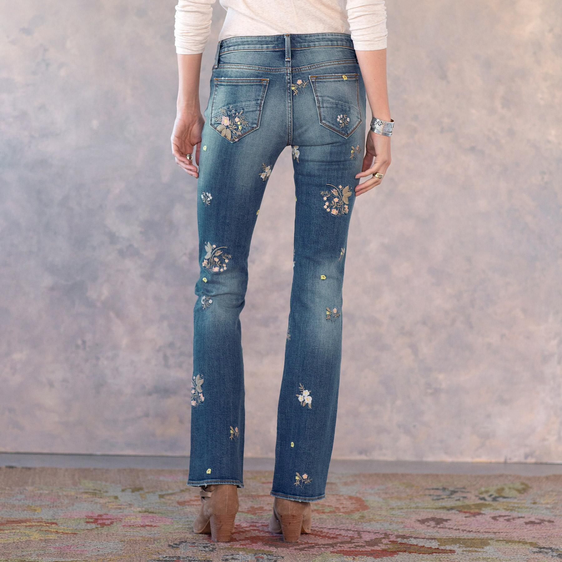 KELLY FLORAL PATCH JEANS: View 3