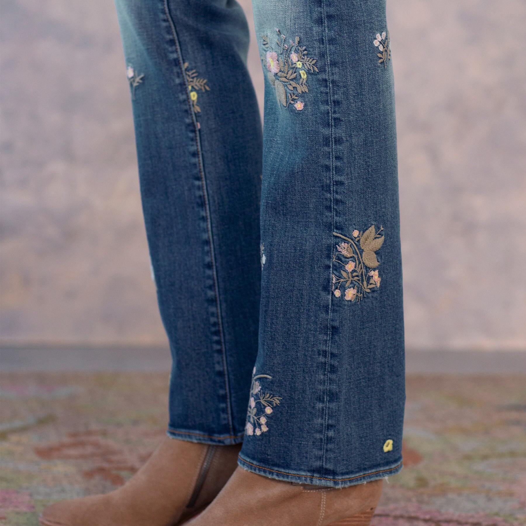 KELLY FLORAL PATCH JEANS: View 6