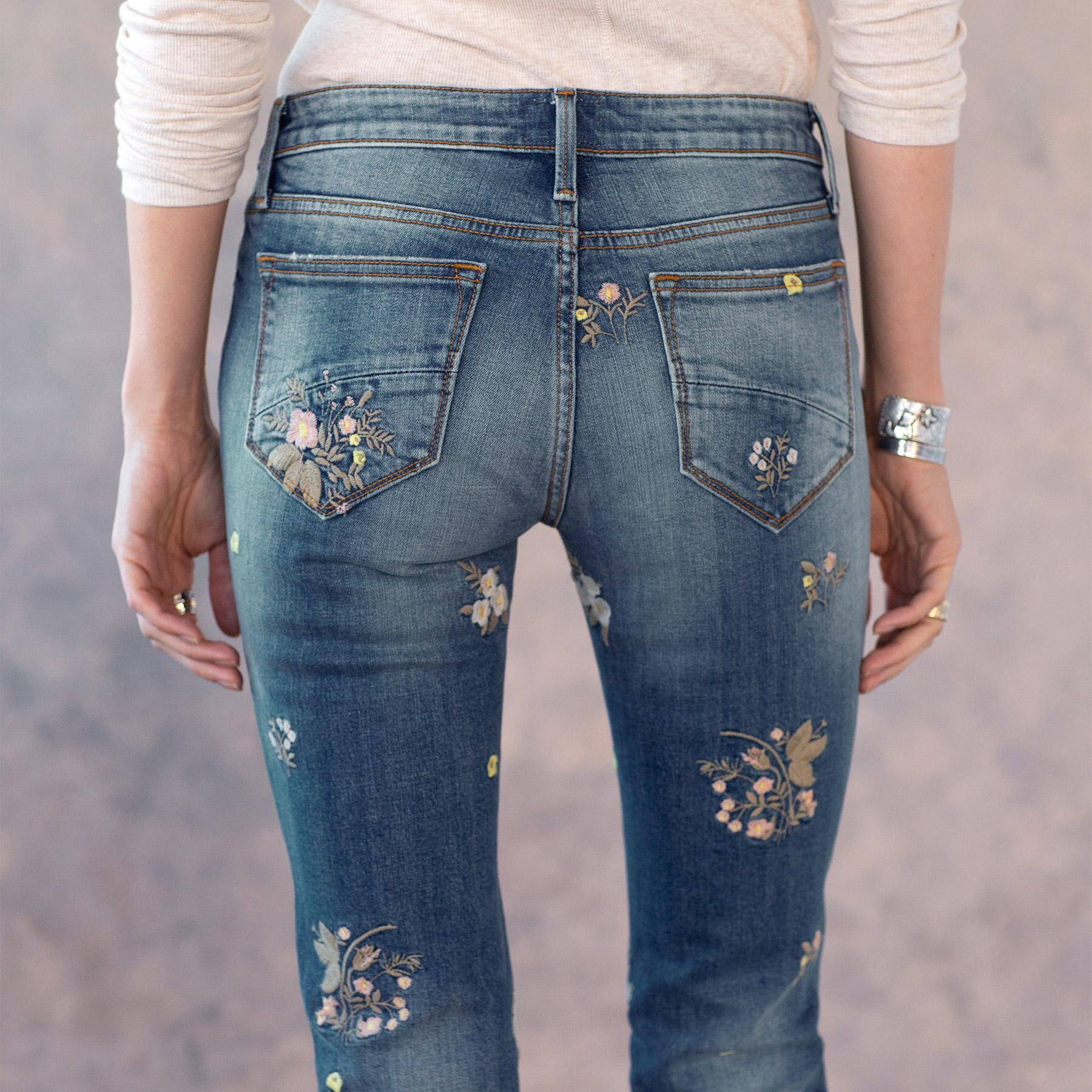 KELLY FLORAL PATCH JEANS: View 7