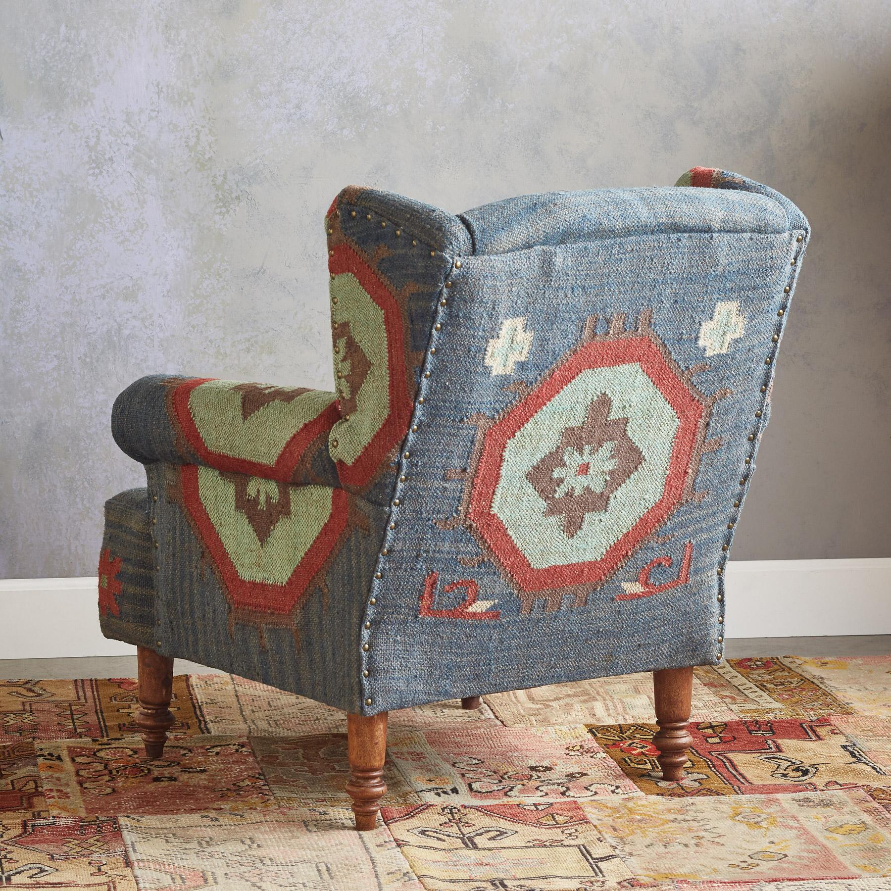 SAGUARO KILIM CLUB CHAIR: View 2