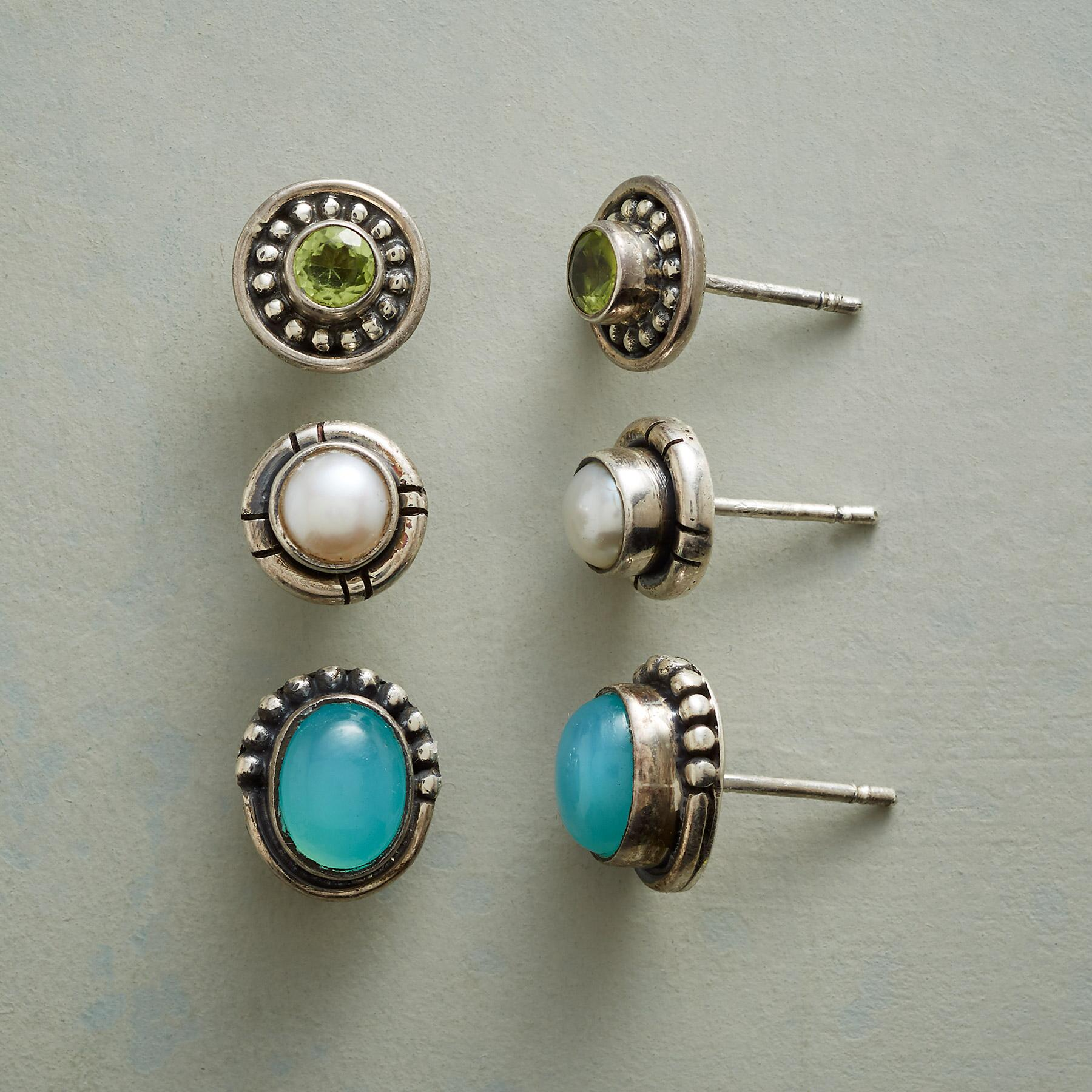 SEA HUES EARRING TRIO: View 1