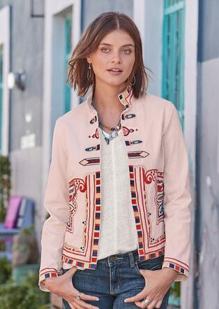 b14e7cb3fcc CAROLA EMBROIDERED JACKET