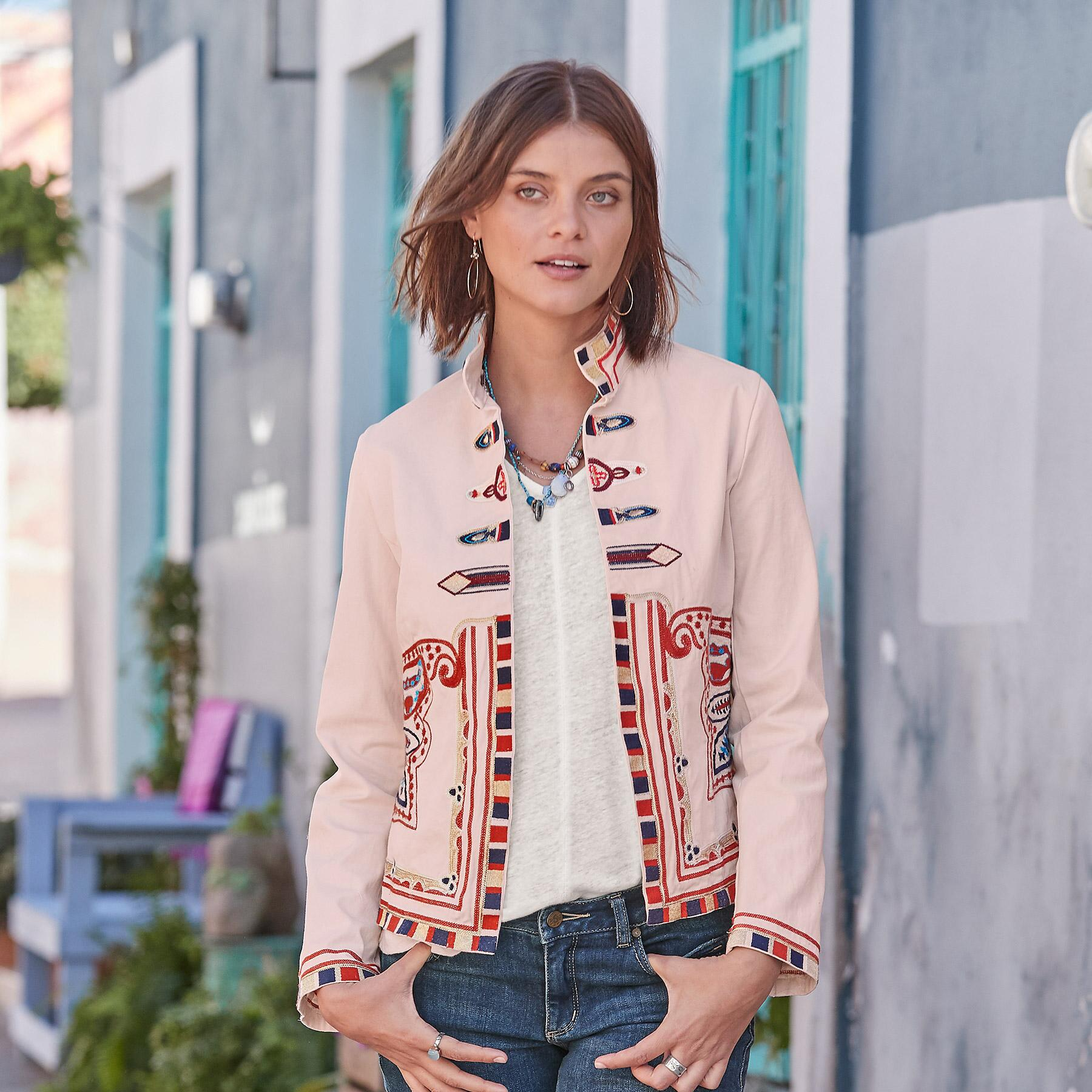 CAROLA EMBROIDERED JACKET: View 1