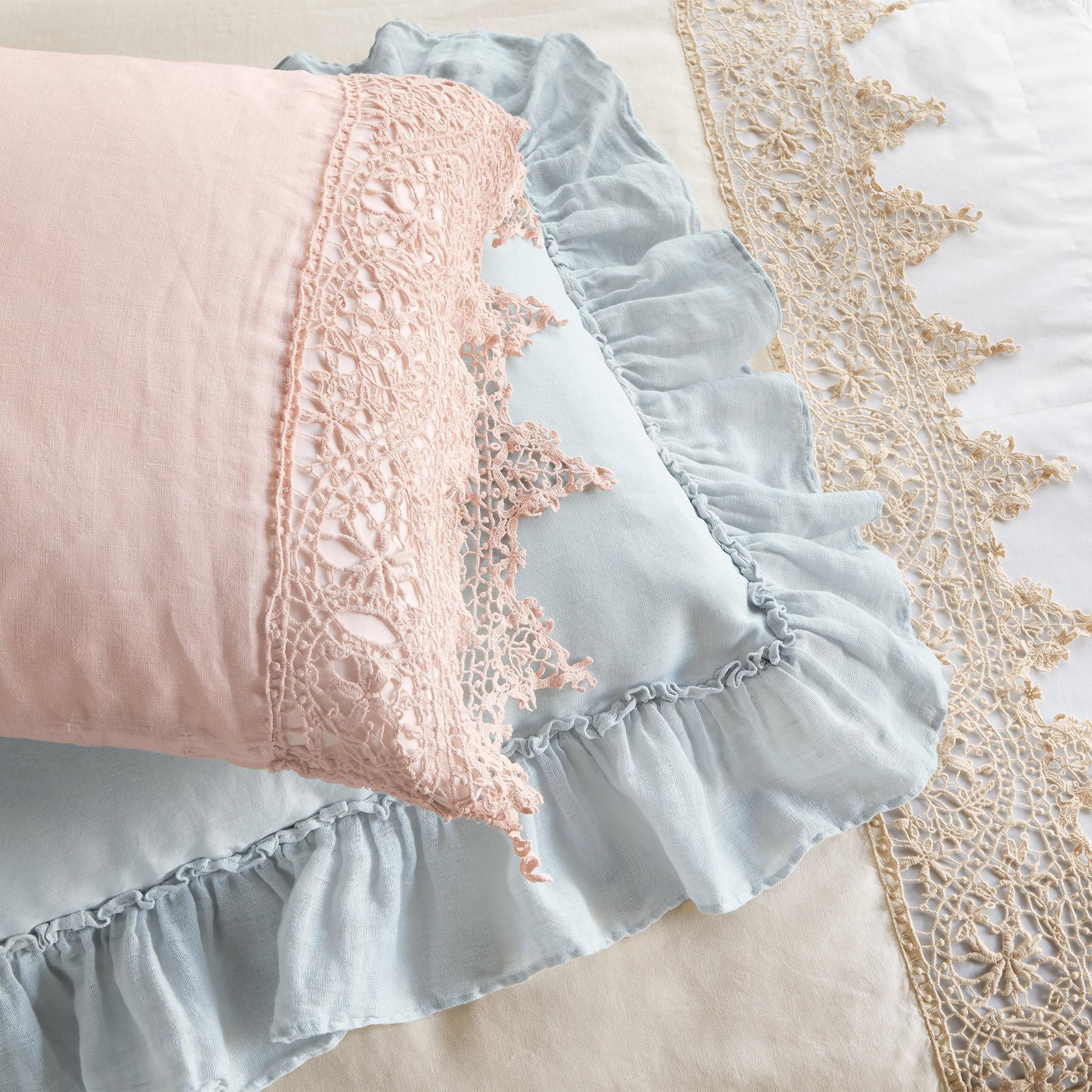 Gossamer Linen Lace Flat Sheet: View 2