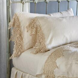 GOSSAMER LINEN LACE PILLOWCASE