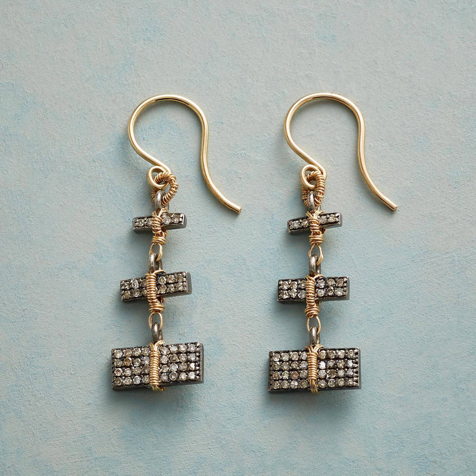 STUNNING STACK DIAMOND EARRINGS: View 1