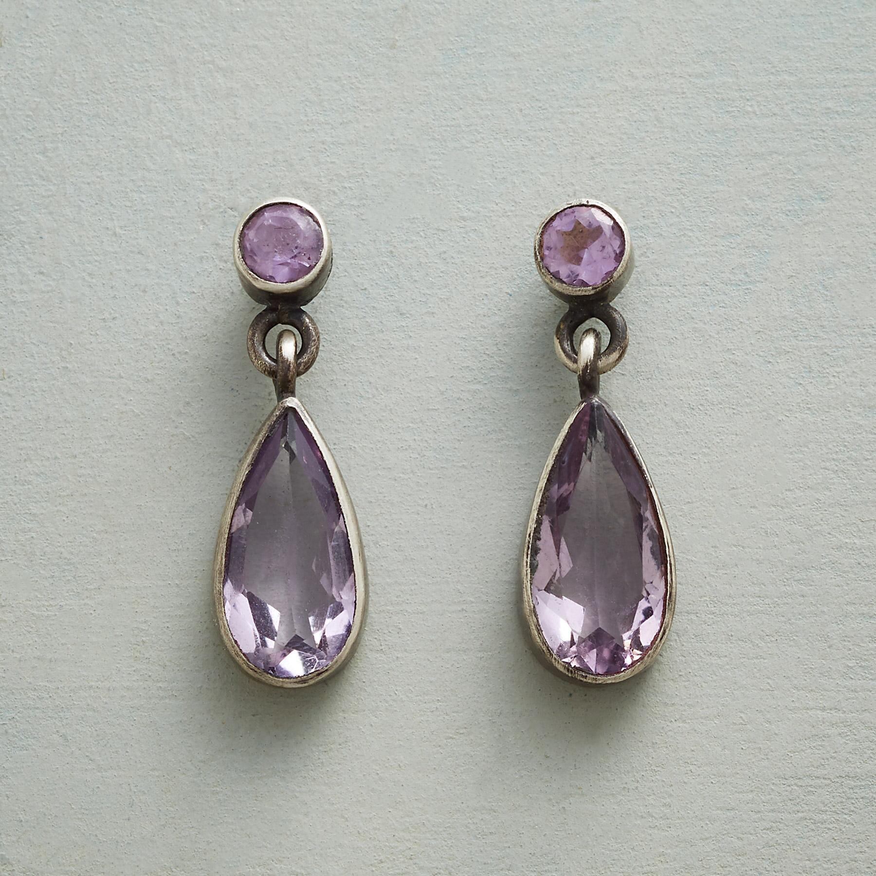 AMETHYST SPARKLE EARRINGS: View 1