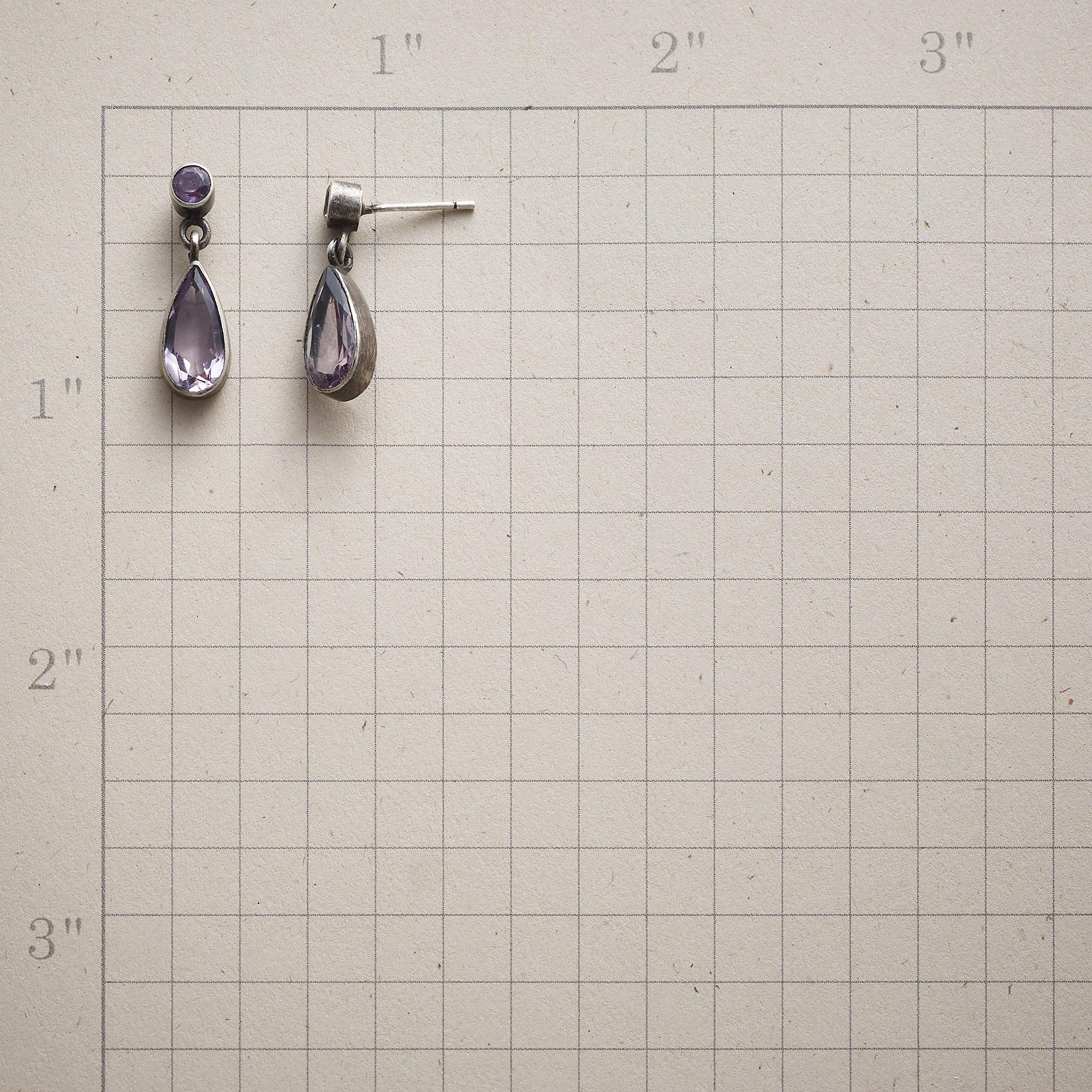 AMETHYST SPARKLE EARRINGS: View 2