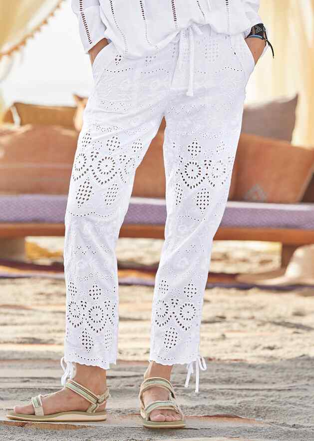 EVERYDAY EYELET PANTS - PETITES