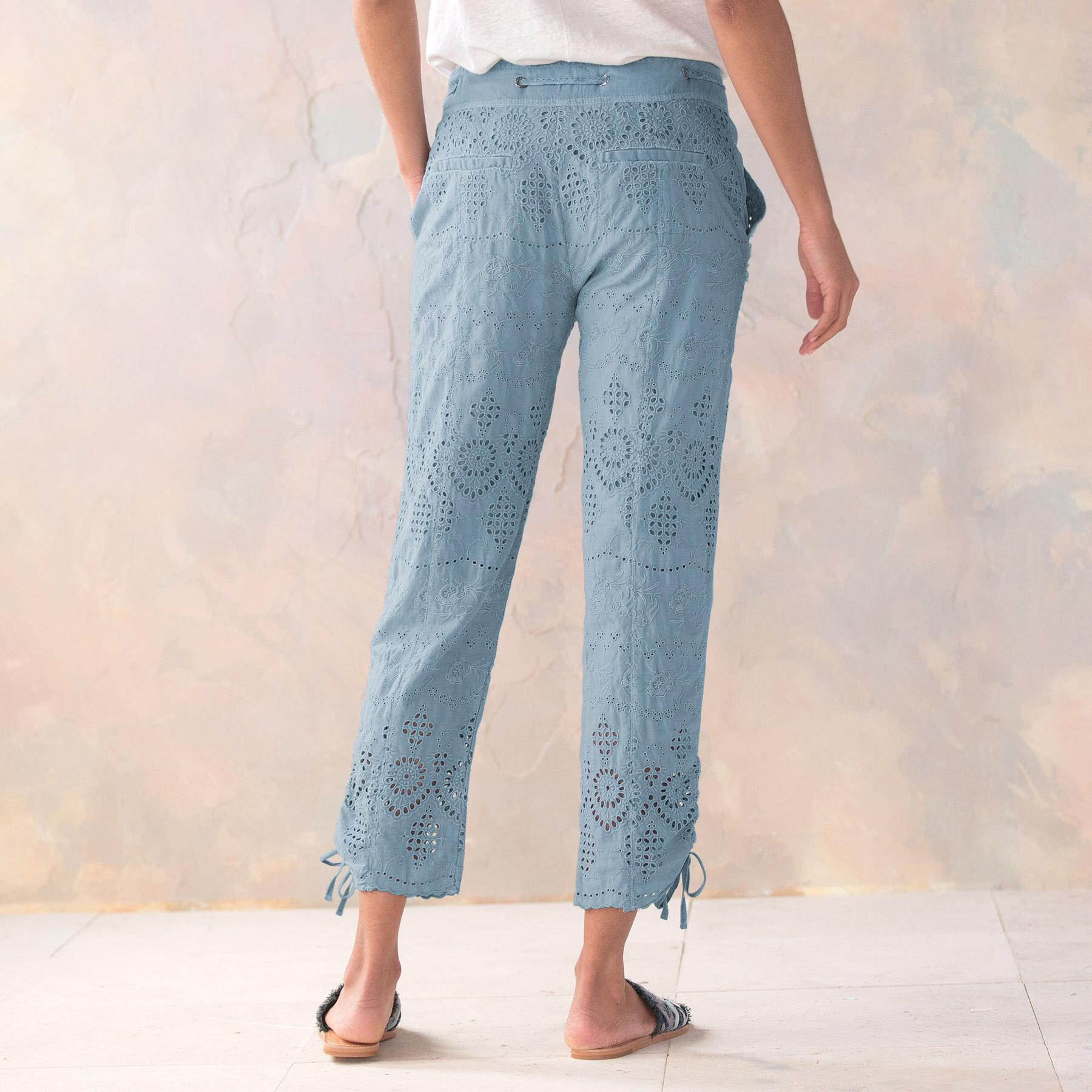 EVERYDAY EYELET PANTS - PETITES: View 3