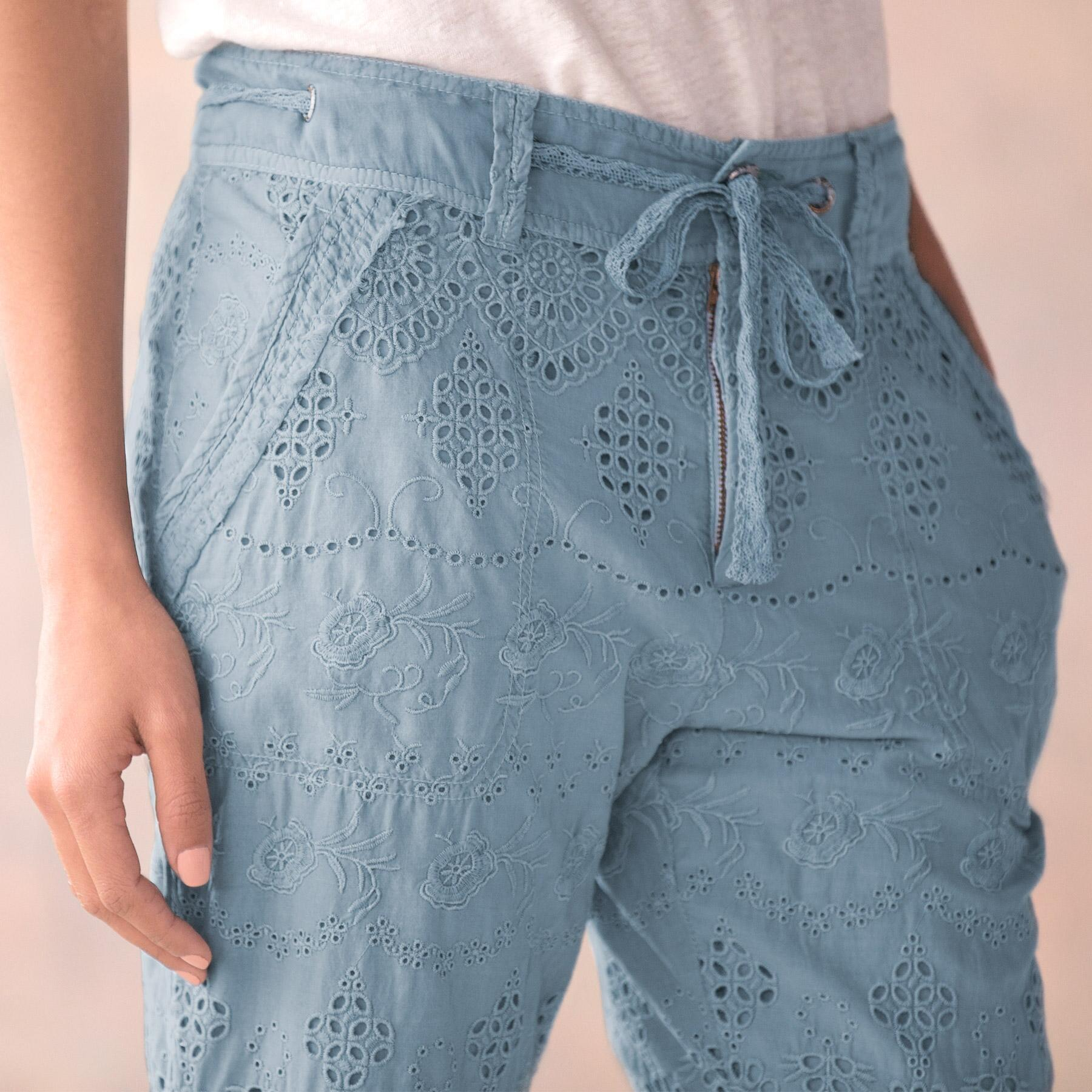 EVERYDAY EYELET PANTS - PETITES: View 4
