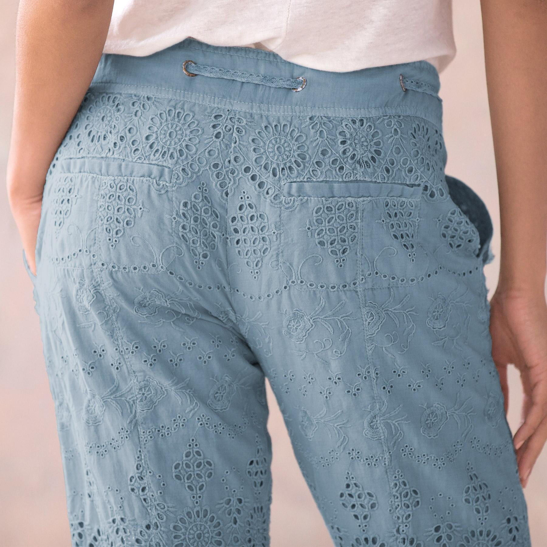 EVERYDAY EYELET PANTS - PETITES: View 5