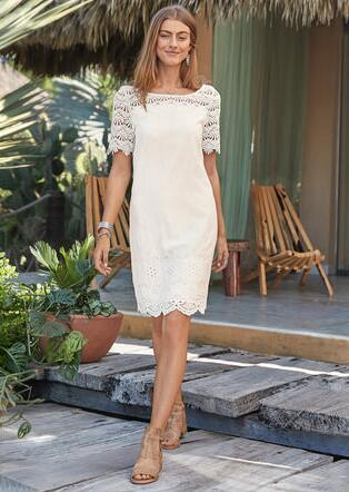 IMPERIAL EYELET DRESS - PETITES