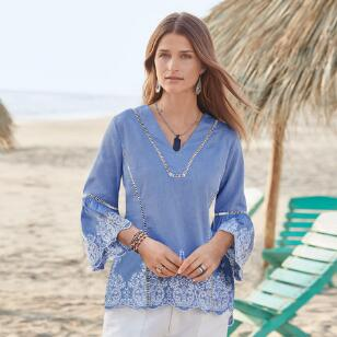 LILIANA EMBROIDERY TOP