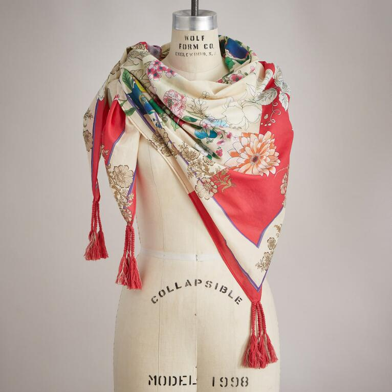 PAINTER'S GARDEN SCARF