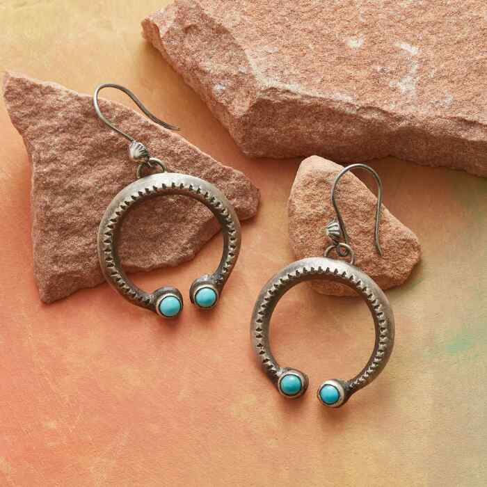 CHEYENNE TURQUOISE NAJA EARRINGS